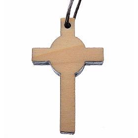 Croix première communion bois calice 3,9x2,1 cm s2