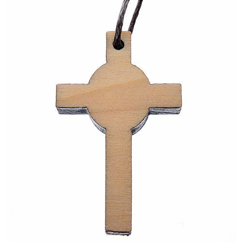 Croce Prima Comunione legno calice 3,9x2,1cm 2