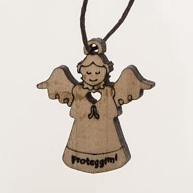 Ángeles de la Guarda: Colgante ángel en madera