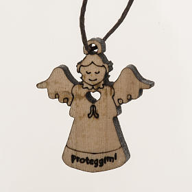 Colgante ángel en madera s1