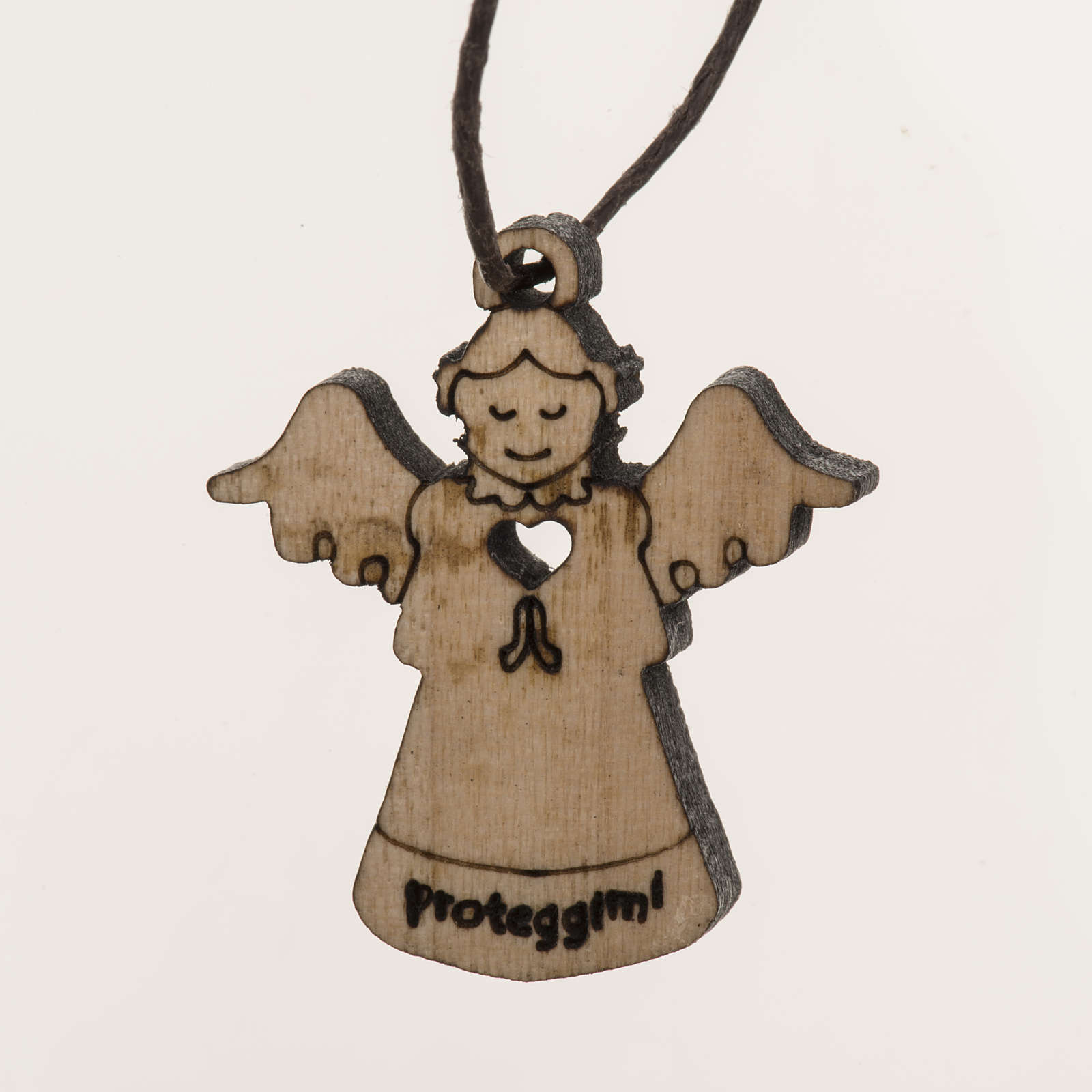 Pendente angelo in legno 4