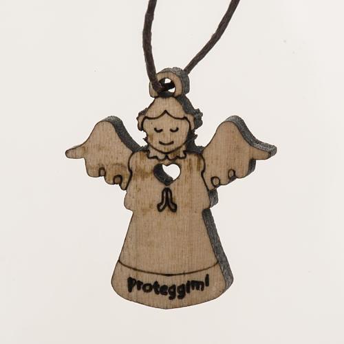 Pingente anjo em madeira 1