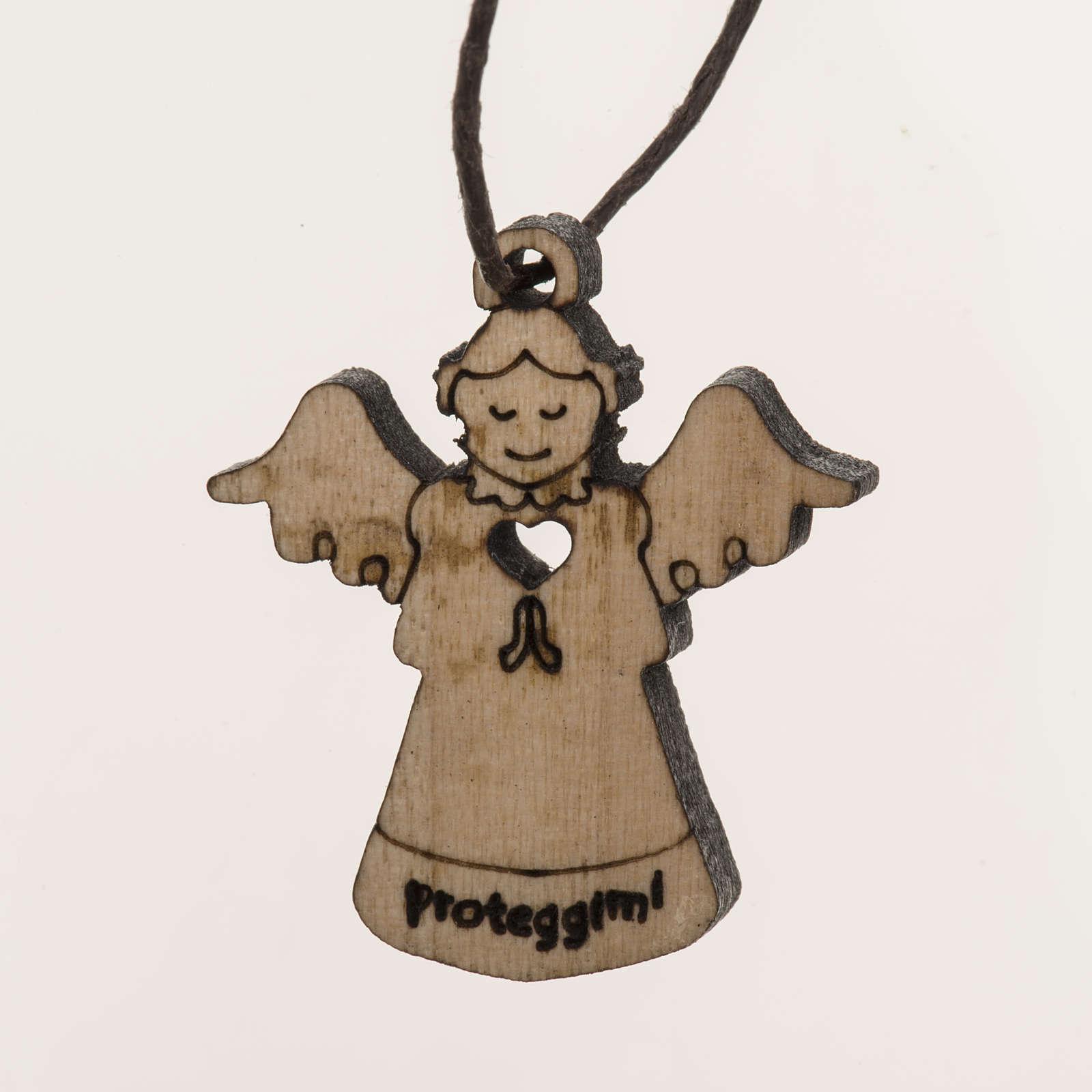Angel pendant in wood 4