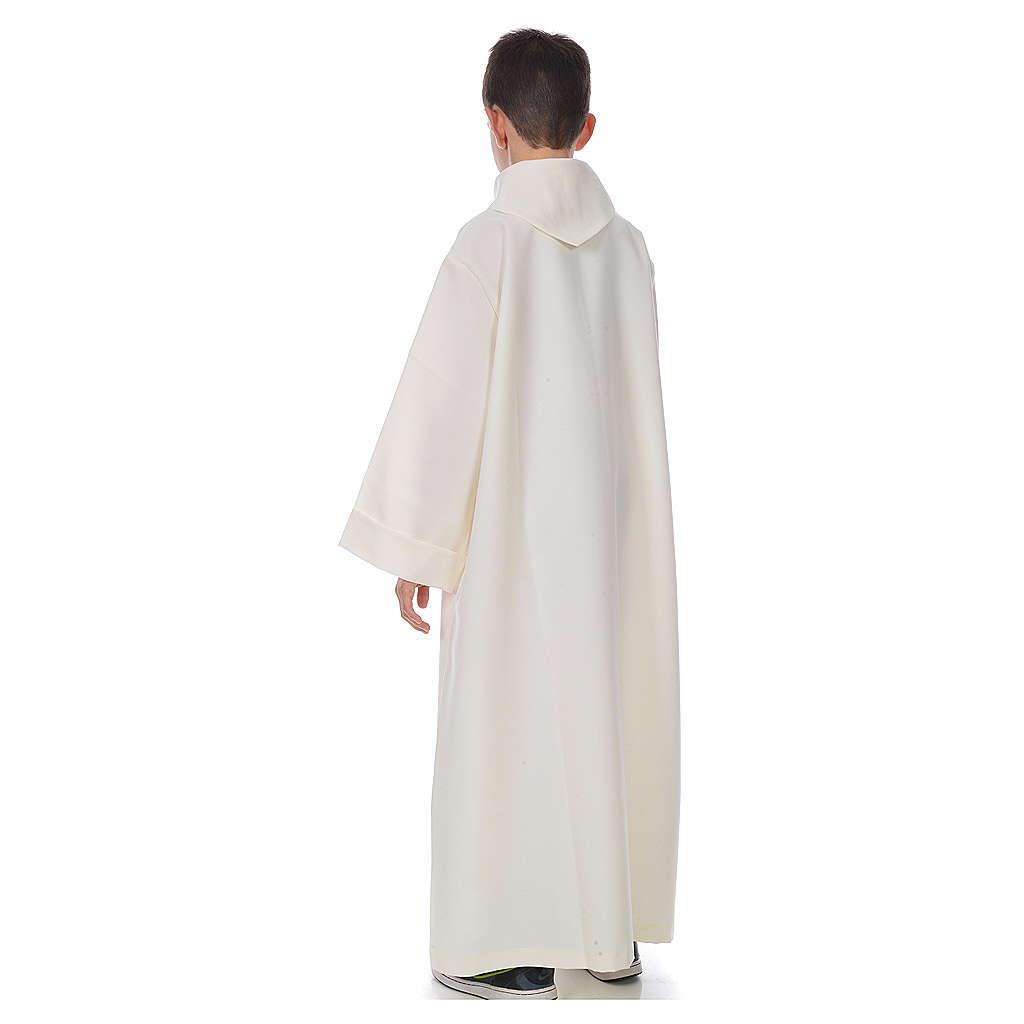Aube première communion simple ivoire 4