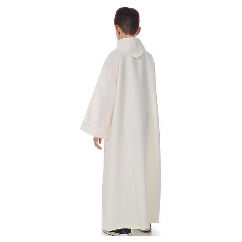 Aube première communion simple ivoire 3