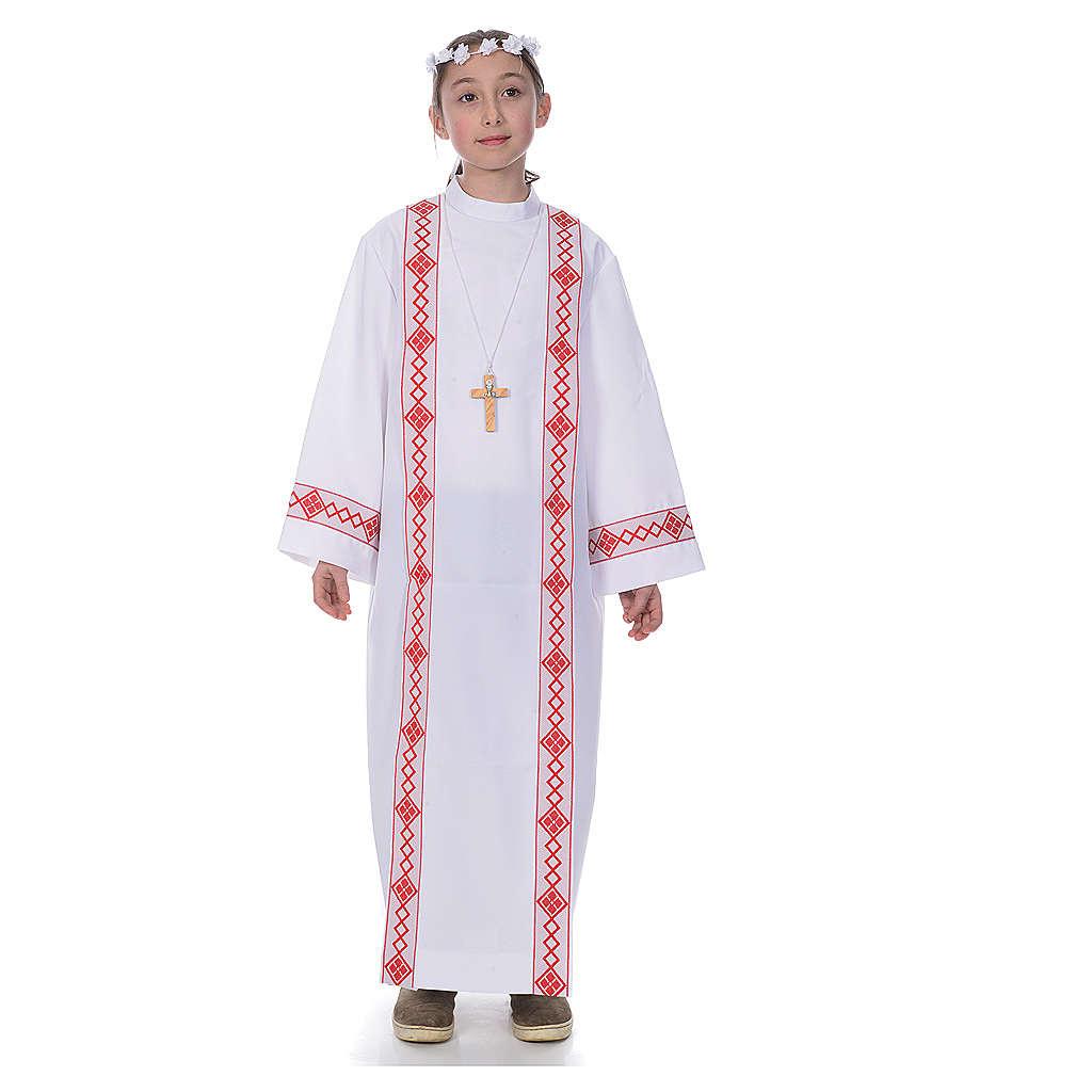 First Communion alb, 2 hems 4