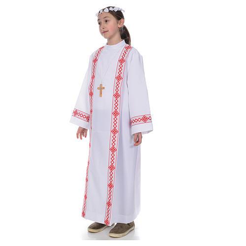 First Communion alb, 2 hems 2