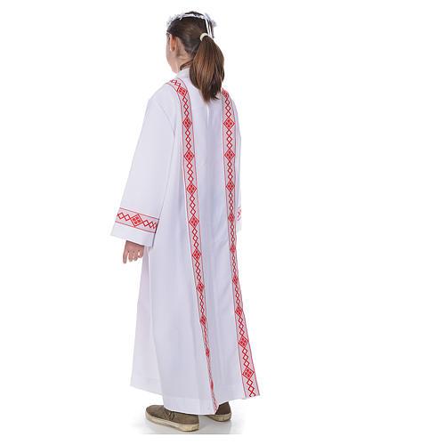 First Communion alb, 2 hems 3