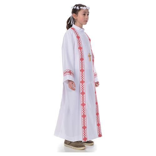 Vestido con bordes para Primera Comunión 4