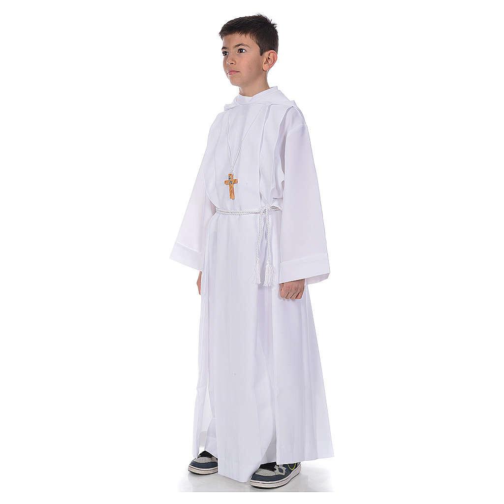 Aube première communion avec capuchon 4