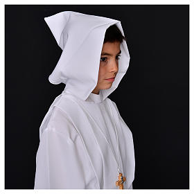 First Holy Communion alb with hood s5