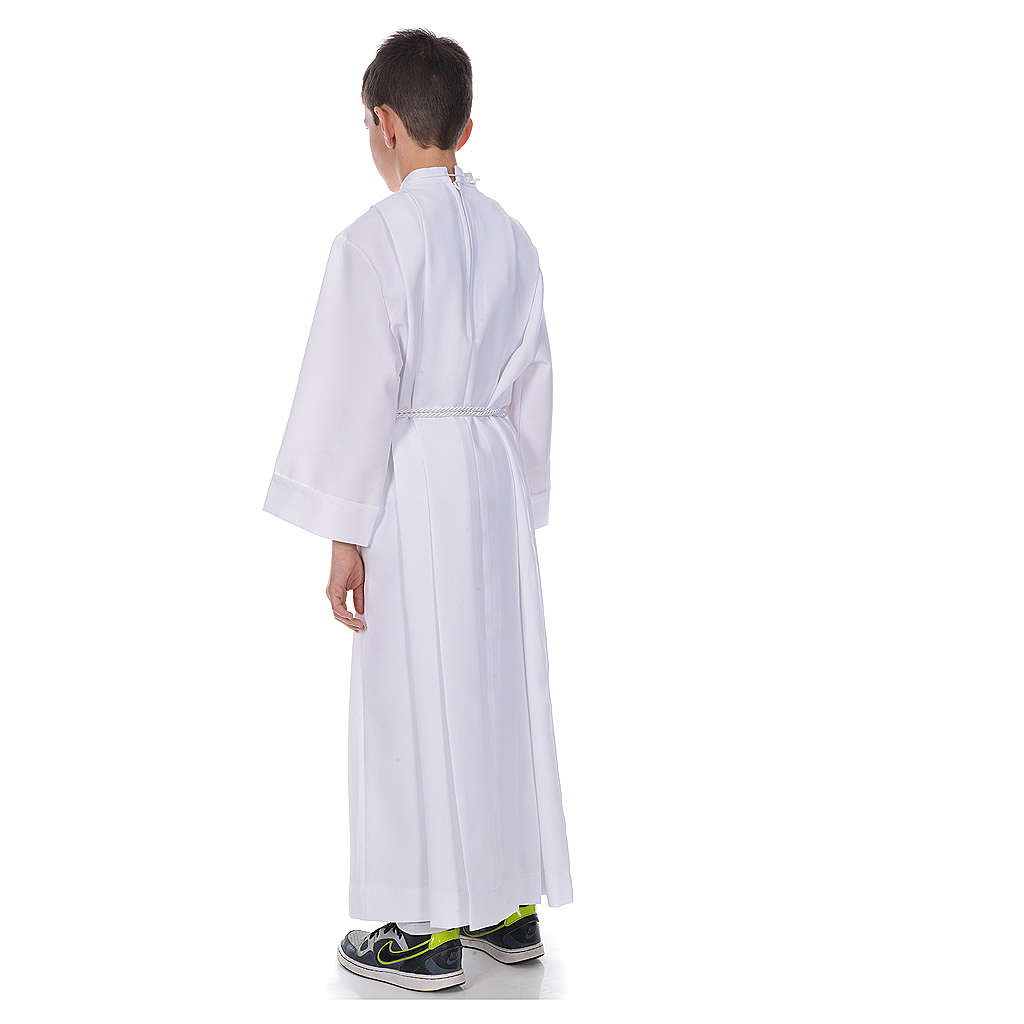 First communion alb with 4 pleats 4