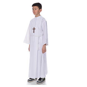 First communion alb with 4 pleats s2