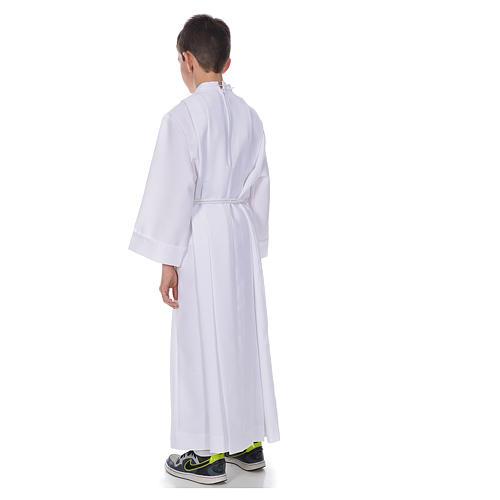 Aube communion avec plis latérales 3