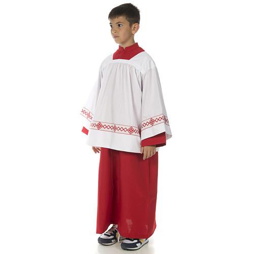 Soutanelle servant d'autel rouge 3