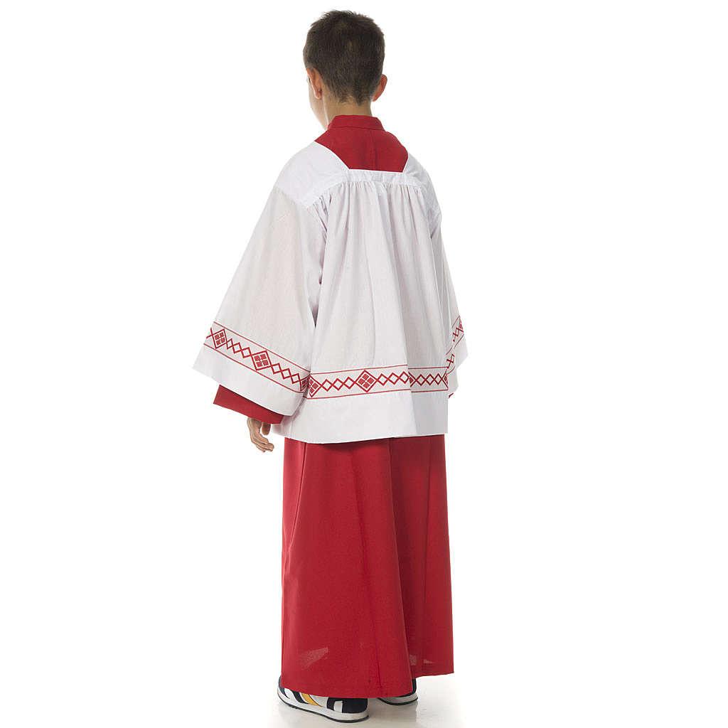 Tunika ministrancka model Czerwony 4