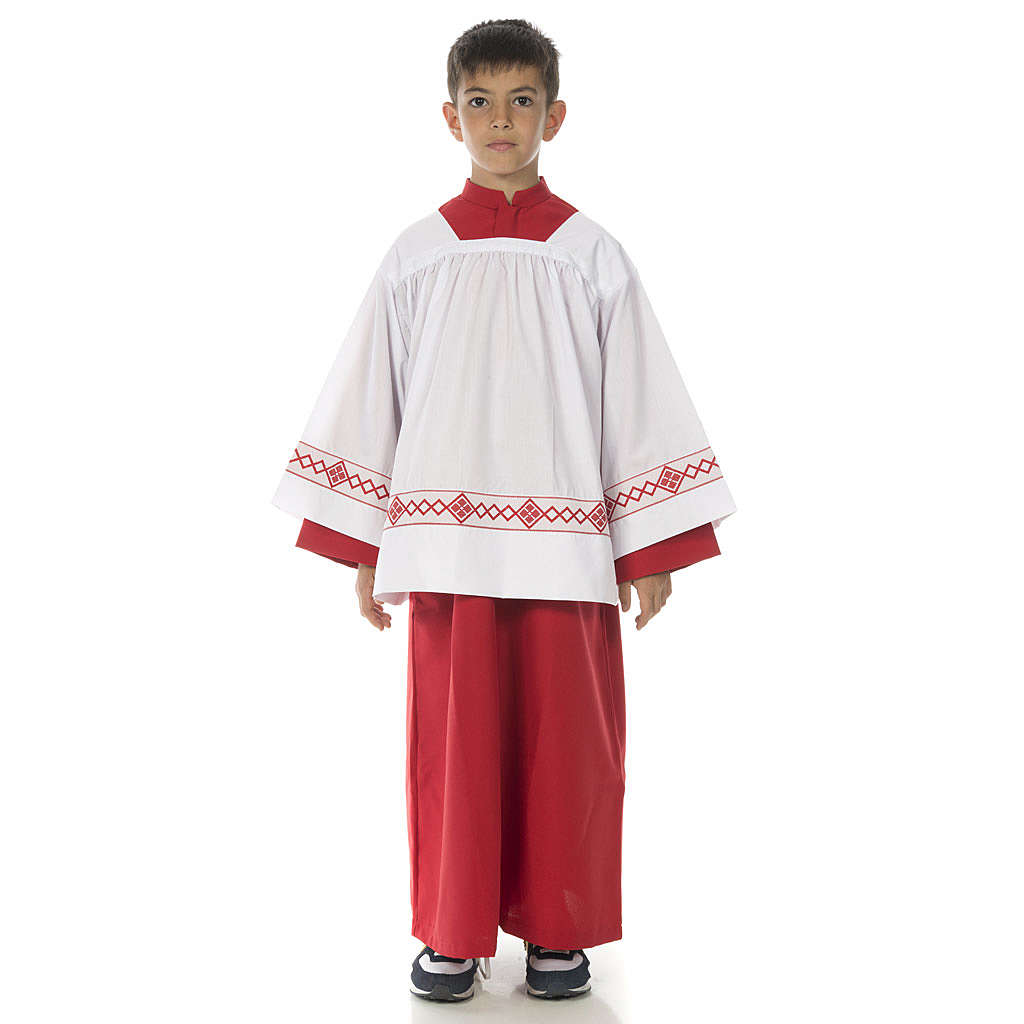 Server surplice and red cassock 4