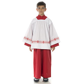 Server surplice and red cassock s1