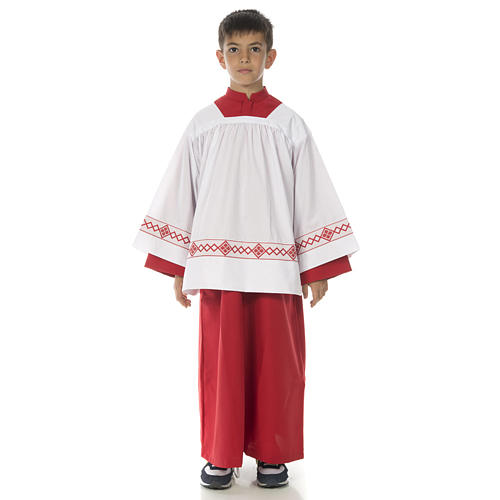 Server surplice and red cassock 1