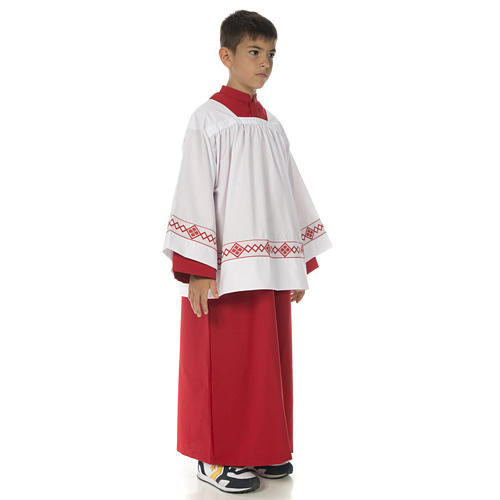 Server surplice and red cassock 2