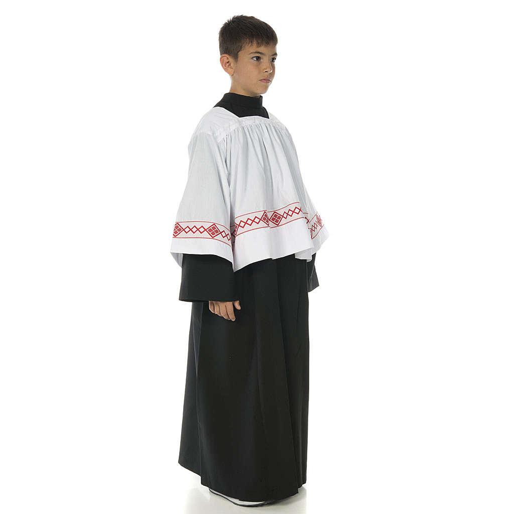 Soutanelle servant d'autel noire 4
