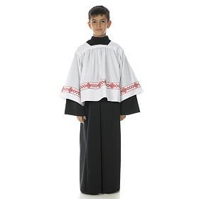 Soutanelle servant d'autel noire s1