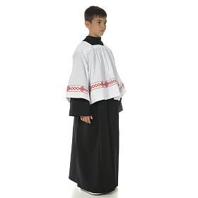 Soutanelle servant d'autel noire s3