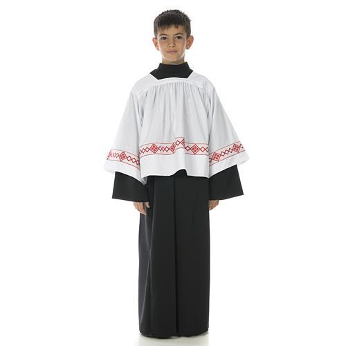 Soutanelle servant d'autel noire 1