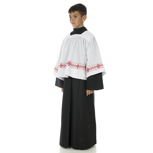 Soutanelle servant d'autel noire 2
