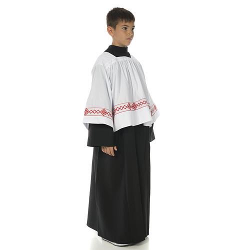 Soutanelle servant d'autel noire 3