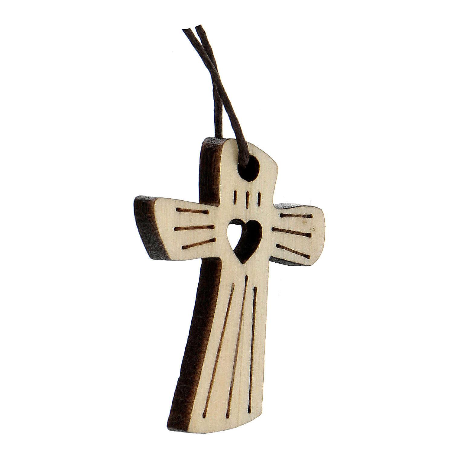 Médaille première communion bois coeur 4