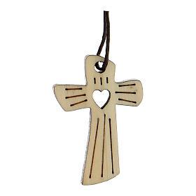 Médaille première communion bois coeur s1