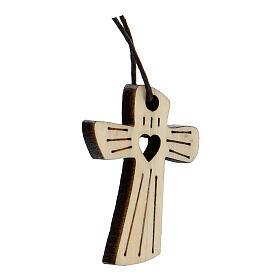 Médaille première communion bois coeur s2