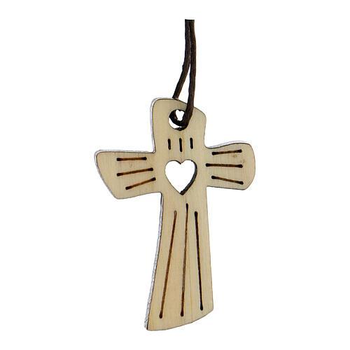 Médaille première communion bois coeur 1