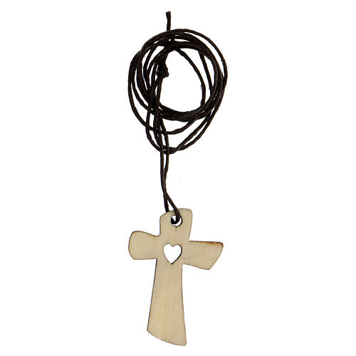 Médaille première communion bois coeur 3