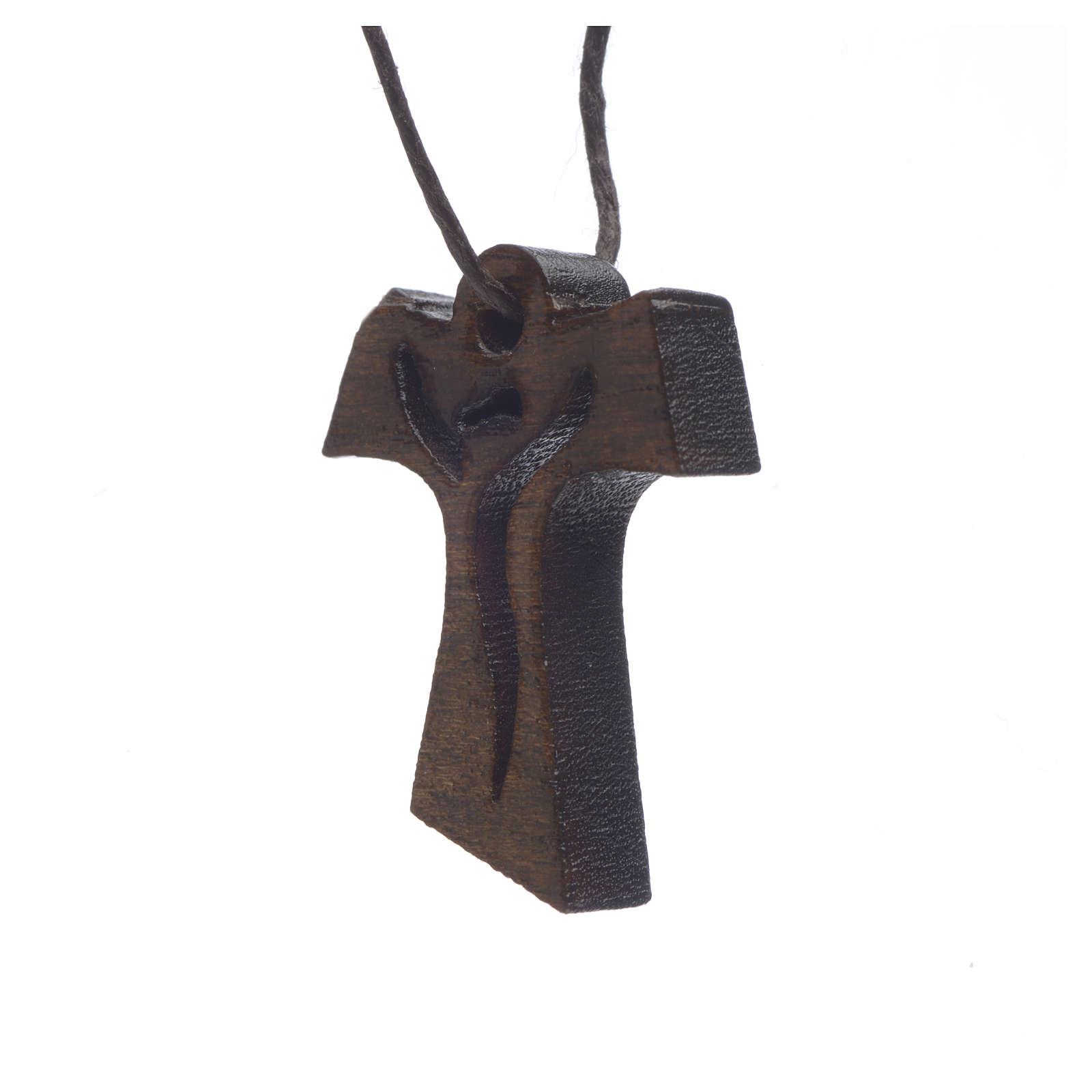 Cruz Primera Comunión madera oscura Resucitado 3,4x2,4cm 4
