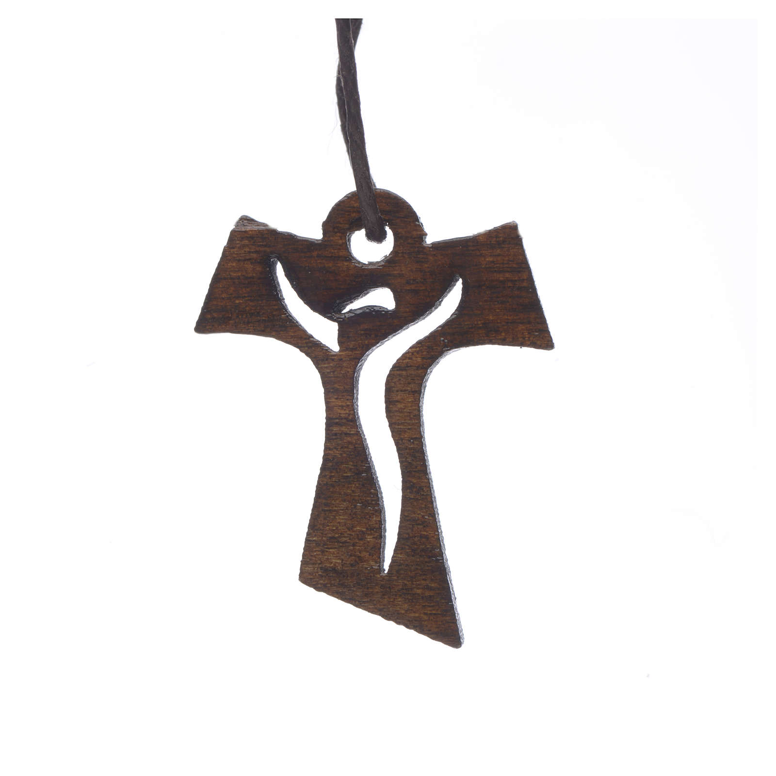 Cross first communion dark carved wood with risen Christ, 3,4x2, 4