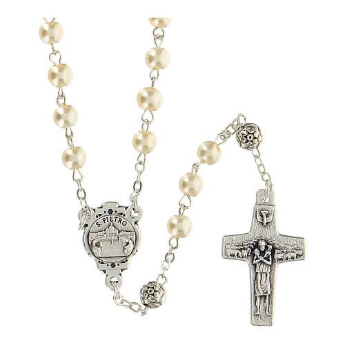 Rosenkranz und Schlüßelanhänger Papst Franziskus