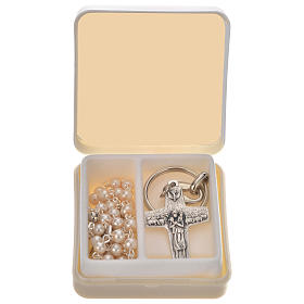Pope Francis rosary and keyring s1