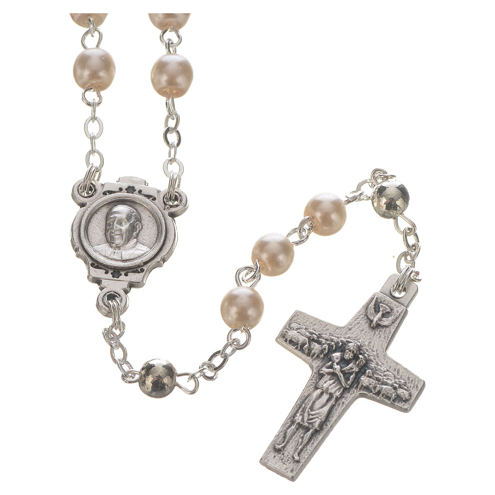 Pope Francis rosary and keyring 4