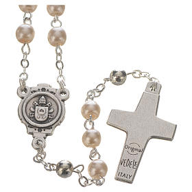 Pope Francis rosary and keyring s3