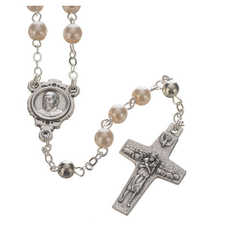 Pope Francis rosary and keyring 2