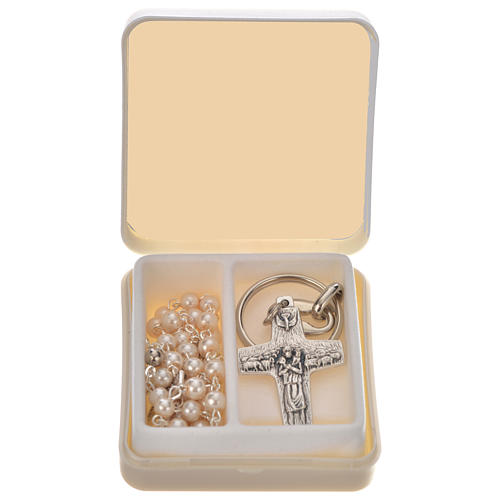 Pope Francis rosary and keyring 1