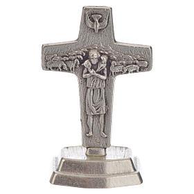 Chapelet marron et croix de Pape François s5