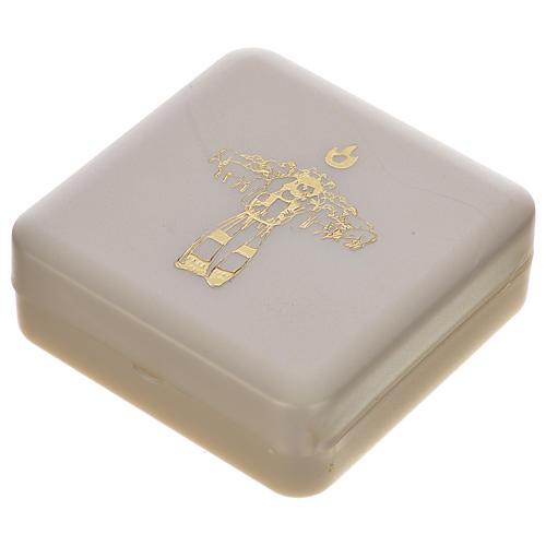 Chapelet marron et croix de Pape François 6
