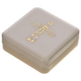 Terço castanho e cruz Papa Francisco s6