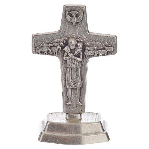 Terço castanho e cruz Papa Francisco 5