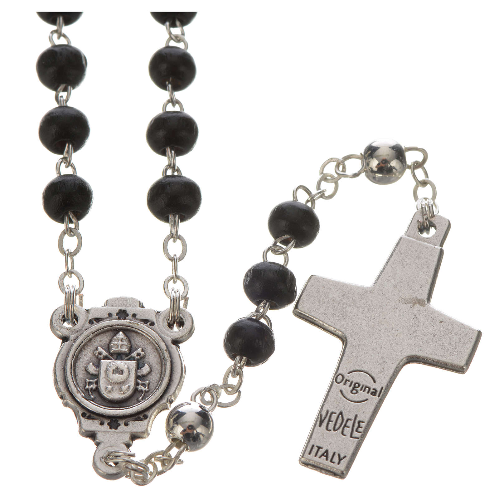 Black Rosary and cross, Pope Francis 4