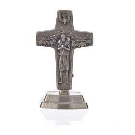 Chapelet noir et croix Pape François s5