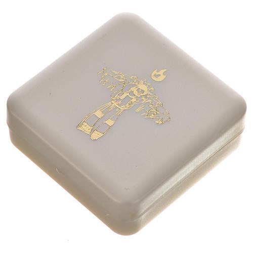 Chapelet noir et croix Pape François 6